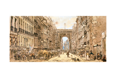 The Faubourg and the Porte Saint-Denis, 1801 Giclee Print by Thomas Girtin