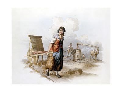 Brickfield, 1808 Giclee Print by William Henry Pyne