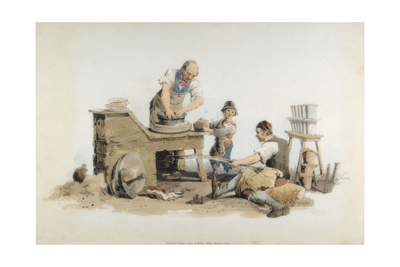 Making Flower Pots, 1808 Giclee Print by William Henry Pyne
