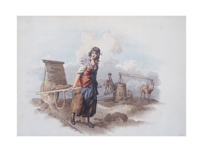 Brick Maker, 1808 Giclee Print by William Henry Pyne