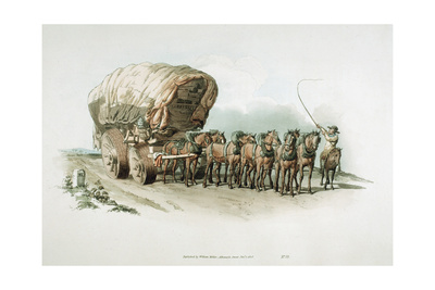 Stage Wagon, 1805 Giclee Print by William Henry Pyne