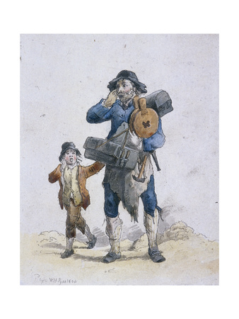 A Tinker and a Child, Provincial Characters, 1804 Giclee Print by William Henry Pyne