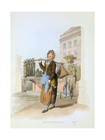 Rabbit Seller, 1808 Giclee Print by William Henry Pyne