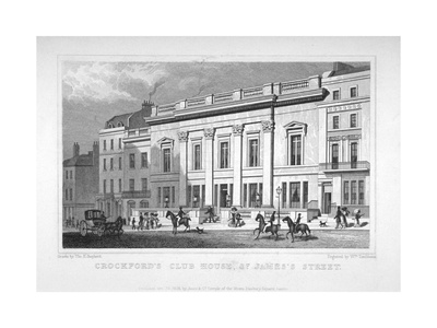 View of Crockford's Club on St James's Street, Westminster, London, 1828 Giclee Print by William Tombleson