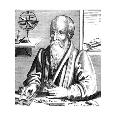 Guillaume Postel, 16th Century French Linguist, Astronomer and Diplomat Giclee Print
