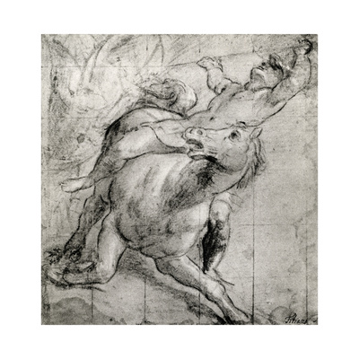 Horseman Falling, C1565 Giclee Print by  Titian (Tiziano Vecelli)