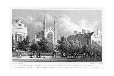 The Royal Hospital of St Katherine, Regent's Park, London, 1827 Giclee Print by William Tombleson