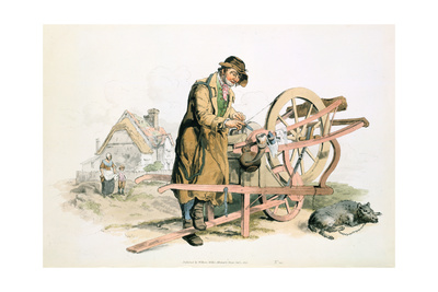 Knife Grinder, 1808 Giclee Print by William Henry Pyne