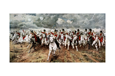 Scotland for Ever, the Charge of the Scots Greys at Waterloo, 18 June 1815 Giclee Print by Elizabeth Butler