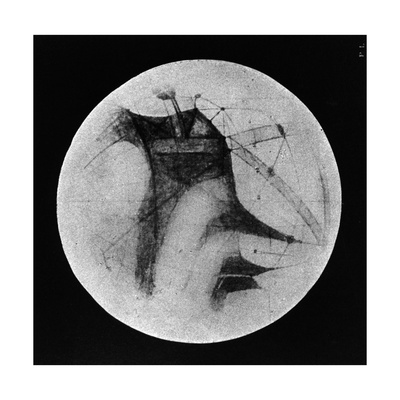 Drawing of Mars Showing 'Canals' and Dark Areas, 1896 Giclee Print