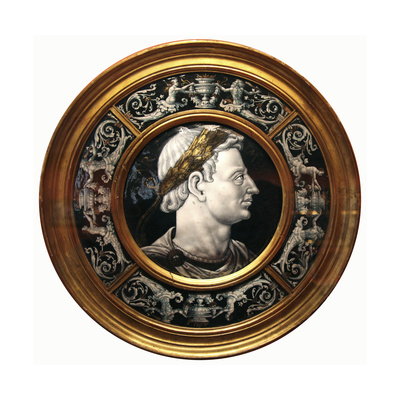 Medallion with a Portrait of the Roman Emperor Domitian, 16th Century Giclee Print