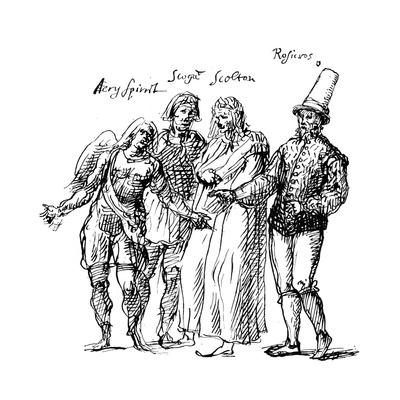 Figures Designed by Inigo Jones for the Masque of the Fortune Isles, 17th Century Giclee Print by Inigo Jones