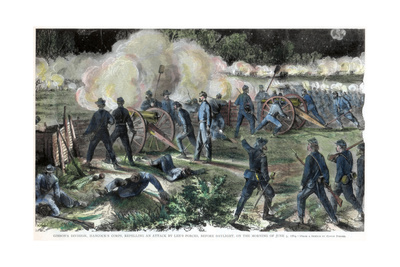 Battle of Cold Harbor, Virginia, American Civil War, 3 June 1864 Giclee Print by Edwin Forbes