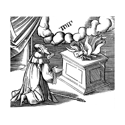 King David Making a Burnt Offering, 16th Century Giclee Print