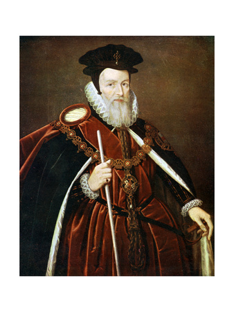 William Cecil, 1st Baron Burghley, 16th Century Giclee Print by Marcus Gheeraerts The Younger