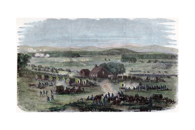 Night of the Battle Cedar Mountain, Culpeper County, Virginia, American Civil War, 9 August 1862 Giclee Print by Edwin Forbes