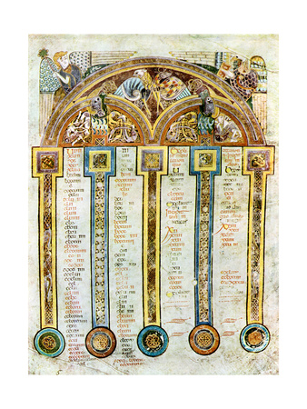 A Page of the Eusebian Canons, C800 Ad Giclee Print