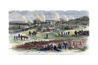 Battle of Spotsylvania Court House, Virginia, American Civil War, 12 May 1864 Giclee Print by Edwin Forbes