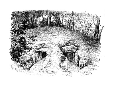 Stone Age Tumulus Containing Two Chambers, Rodding, Denmark, 1913 Giclee Print