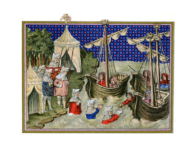 Ships Bringing Provisions to the English Host, Richard Ii's Campaign in Ireland, 1399 Giclee Print