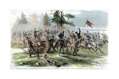 Capture of Confederate Guns, Near Culpeper, Virginia, American Civil War, 14 September 1863 Giclee Print by Edwin Forbes