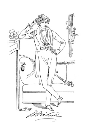 Mr Disraeli in His Youth, 19th Century Giclee Print by Daniel Maclise