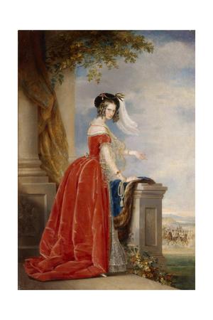 Portrait of Empress Alexandra Fyodorovna (Charlotte of Prussi), Emperor's Nicholas I Wife Giclee Print by Christina Robertson