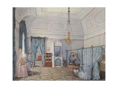 Interiors of the Winter Palace, the Fifth Reserved Apartment, 1873 Giclee Print by Eduard Hau