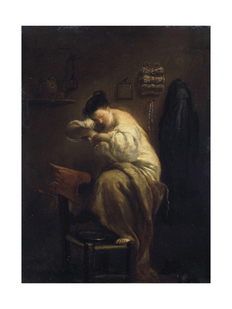 Woman Looking for Fleas, 1710S Giclee Print by Giuseppe Maria Crespi