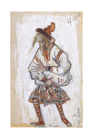 Costume Design for the Ballet the Rite of Spring (Le Sacre Du Printemp), 1912 Giclee Print by Nicholas Roerich