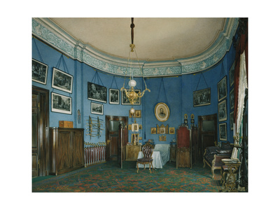 Interiors of the Winter Palace, the Bedroom of Crown Prince Nikolay Aleksandrovich, 1865 Giclee Print by Eduard Hau