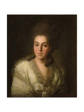 Portrait of Countess Anna Alexandrovna Golitsyna (1739-181), Née Baroness Stroganova, 1777 Giclee Print by Fyodor Stepanovich Rokotov