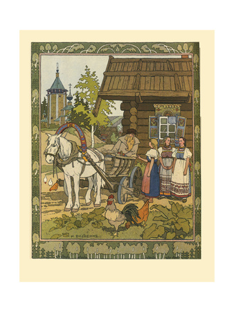 Illustration for the Fairy Tale the Feather of Finist the Falcon, 1901-1902 Giclee Print by Ivan Yakovlevich Bilibin