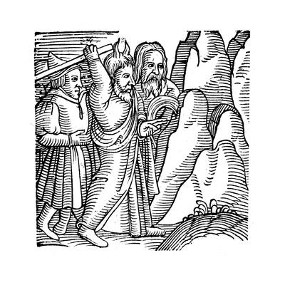 Moses Striking the Rock in the Wilderness and Producing Water, 1557 Giclee Print