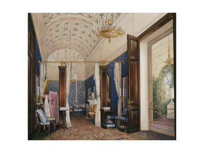 Interiors of the Winter Palace, the Dressing Room of Empress Alexandra Fyodorovna, 1871 Giclee Print by Eduard Hau