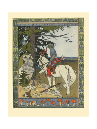 Illustration for the Fairy Tale of Ivan Tsarevich, the Firebird, and the Gray Wolf, 1902 Giclee Print by Ivan Yakovlevich Bilibin