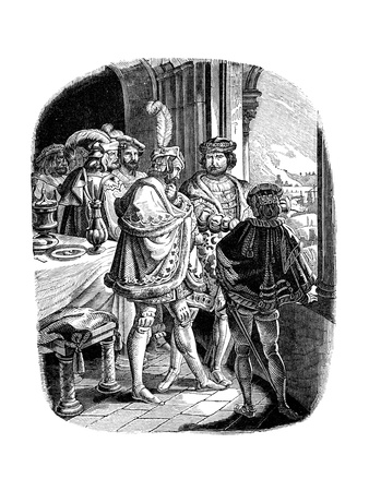 Frederick I Meal in Heidelberg Castle 1462, 1840 Giclee Print by Adrian Ludwig Richter