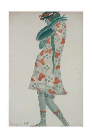 Costume Design for the Opera Snow Maiden, 1919 Giclee Print by Boris Dmitryevich Grigoriev