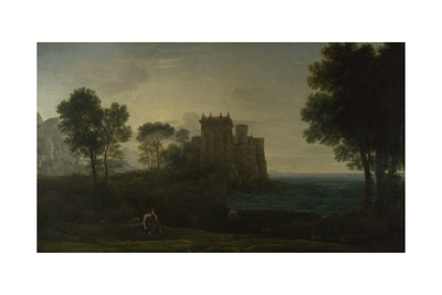 Landscape with Psyche Outside the Palace of Cupid (The Enchanted Castle), 1664 Giclee Print by Claude Lorrain