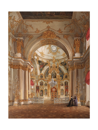 Interiors of the Winter Palace, the Cathedral in the Winter Palace, 1860S Giclee Print by Eduard Hau