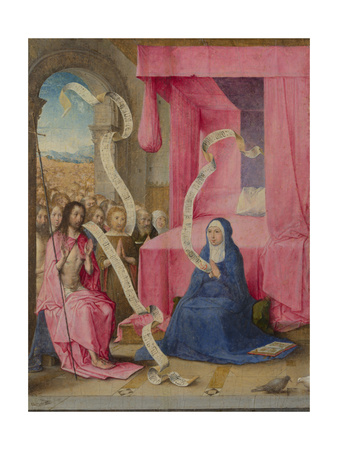 Christ Appearing to the Virgin with the Redeemed of the Old Testament, C. 1500 Giclee Print by Juan de Flandes