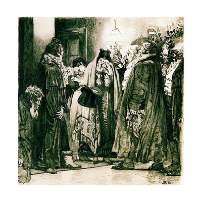 Illustration to the Comedy Woe from Wit by Alexander Griboyedov, 1912 Giclee Print by Dmitri Nikolayevich Kardovsky