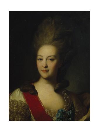 Portrait of Countess Ekaterina Nikolayevna Orlova (1758-178), C. 1779 Giclee Print by Fyodor Stepanovich Rokotov