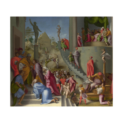 Joseph with Jacob in Egypt (From Scenes from the Story of Josep), Ca 1515 Giclee Print by  Pontormo