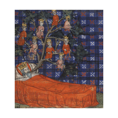 The Tree of Jesse (From the Bible Historiale by Guiart Des Moulin), 1400-1415 Giclee Print