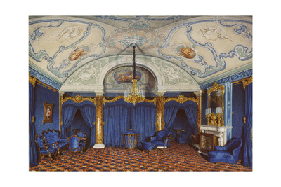 Interiors of the Winter Palace, the Fourth Reserved Apartment, a Bedroom, 1868 Giclee Print by Eduard Hau