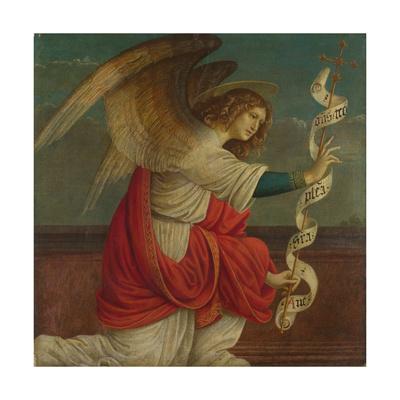 Archangel Gabriel (Panel from an Altarpiece: the Annunciatio), before 1511 Giclee Print by Gaudenzio Ferrari