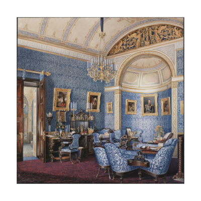 Interiors of the Winter Palace, the Boudoir of Empress Maria Alexandrovna, 1850S Giclee Print by Eduard Hau