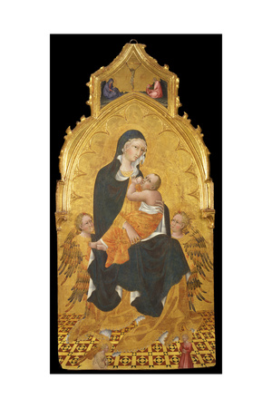 Madonna with Child and Angels, the Annunciation, C. 1440 Giclée-tryk af Giovanni di Paolo