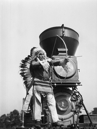 Chief Two Guns White Calf on the St. Paul and Pacific R.R. 1 Photographic Print